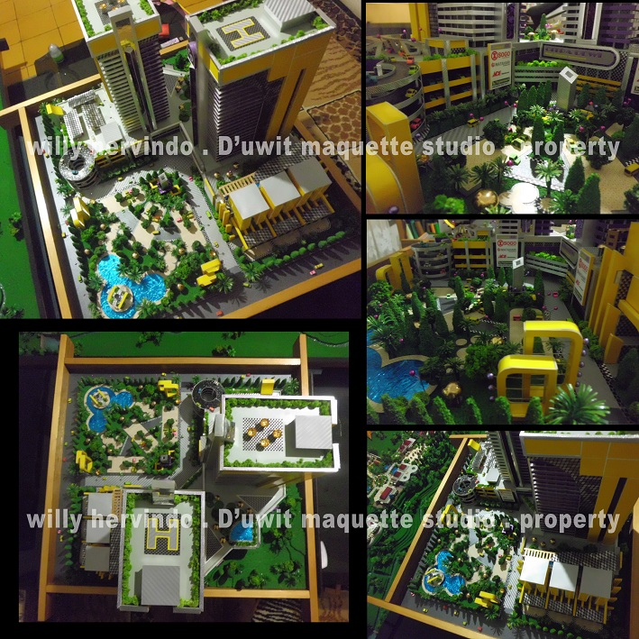 Hotel Malang: Contoh Hasil Maket Highrise Building, D'uwit Maquette